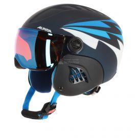 Alpina, Carat Le Visor HM, kask narciarski, dziecięcy, ciemnoniebieski denim matt
