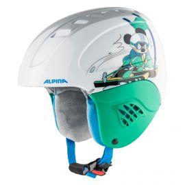 Alpina, Carat set Disney (helm en goggle), kask, dzieci, Mickey Mouse  biały