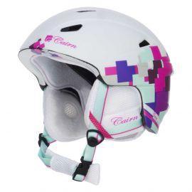 Cairn, Profil, kask narciarski, biały z różowymi detalami