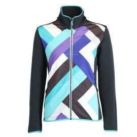 CMP, Fleece vest print, bluza, kobiety, antracite niebieski