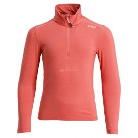 CMP, Half zip shirt melange, bluza, dzieci, Bitter melange pomarańczowy