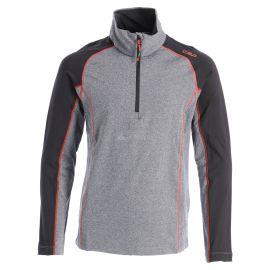 CMP, Half zip shirt melange, bluza, dzieci, melange czarna
