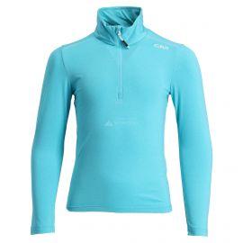 CMP, Half zip shirt melange, bluza, dzieci, turchese melange niebieski