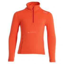 CMP, Half zip shirt pattern, bluza, dzieci, Bitter Granita pomarańczowy