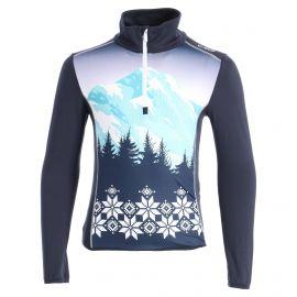 CMP, Half zip shirt print, bluza, dzieci, niebieski