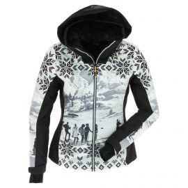 CMP, Ski jacket fix hood photo print, kurtka narciarska, kobiety, print czarny