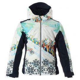 CMP, Ski jacket fix hood print, kurtka narciarska, dzieci, print niebieski
