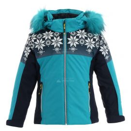 CMP, Ski jacket snaps hood, kurtka narciarska, dzieci, curacao niebieski