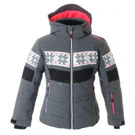 CMP, Ski jacket snaps hood, kurtka narciarska, dzieci, graffite szary