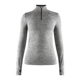 Craft, Fuseknit comfort zip, koszulka termoaktywna, kobiety, dark melange szary