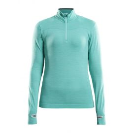 Craft, Fuseknit comfort zip, koszulka termoaktywna, kobiety, paradise melange niebieski