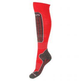 Deluni, 1 paar, skarpety narciarskie, czerwony