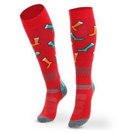 Deluni, Joyride Socks on Socks skarpety narciarskie czerwony