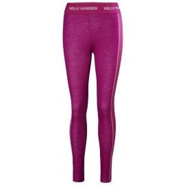 Helly Hansen, lifa merino, spodnie termoaktywne, kobiety, festival fuchsia fioletowy