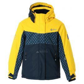 Kilpi, Mils JG, kurtka narciarska, dzieci, żółty