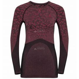 Odlo, Blackcomb BL, koszulka termoaktywna, kobiety, cerise czarna