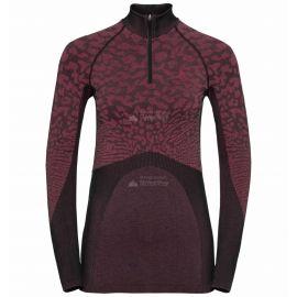 Odlo, Blackcomb BL, koszulka termoaktywna, kobiety, cerise czarny