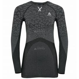 Odlo, Blackcomb BL, koszulka termoaktywna, kobiety, szaro-czarna