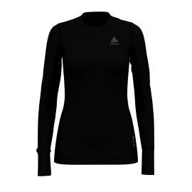 Odlo, Nat 100% Merino Warm Suw, koszulka termoaktywna, kobiety, czarny
