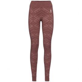 Odlo, Natural+Kinship Warm BL, spodnie termoaktywne, kobiety, roan melange różowy