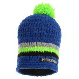Poederbaas, Long Colorful, czapka, niebieski/szary/zielony