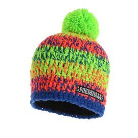 Poederbaas, Short colorful, czapka, zielony/różowy