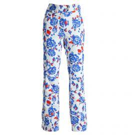 Poivre Blanc, Stretch, spodnie narciarskie, kobiety, flower niebieski