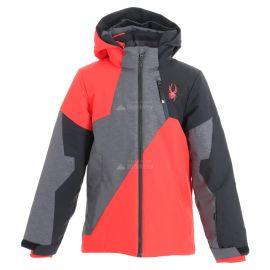 Spyder, Ambush, kurtka narciarska, dzieci, szary/czerwony