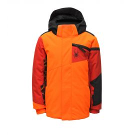 Spyder, Challenger, kurtka narciarska, dzieci, bryte pomarańczowy