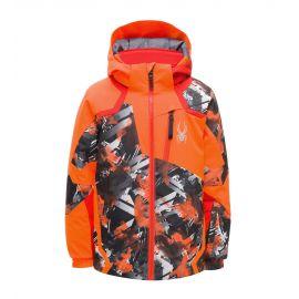 Spyder, Leader, kurtka narciarska, dzieci, parallelagram print pomarańczowy