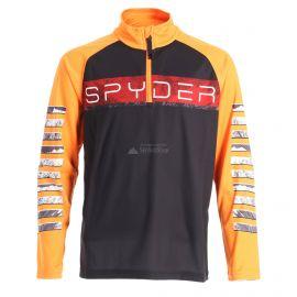 Spyder, Limitless peak zip T-neck, bluza, dzieci, czarny