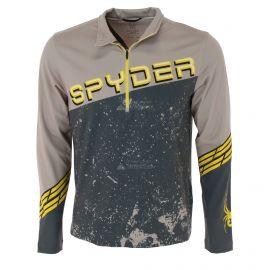 Spyder, Mandate zip T-neck, bluza, mężczyźni, alloy szary