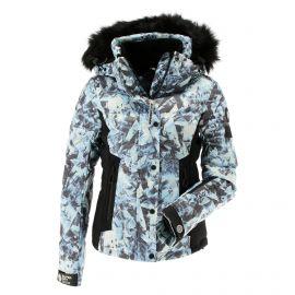 Superdry, Luxe Snow Puffer, kurtka narciarska, kobiety, frosted ice niebieski