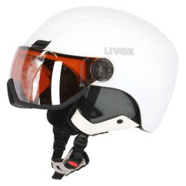 Uvex, HLMT 400 Visor Style (OTG), kask narciarski, mat white