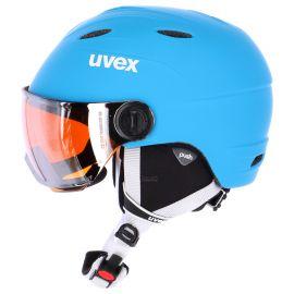 Uvex, Junior Visor Pro,  kask narciarski, dziecięcy, liteblue-white mat