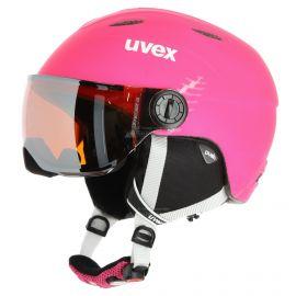 Uvex, Junior visor pro, kask z wizjerem, dzieci, mat różowy