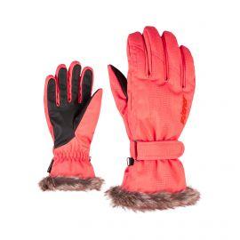 Ziener, Kim Lady, rękawiczki, kobiety, geo camo czerwony