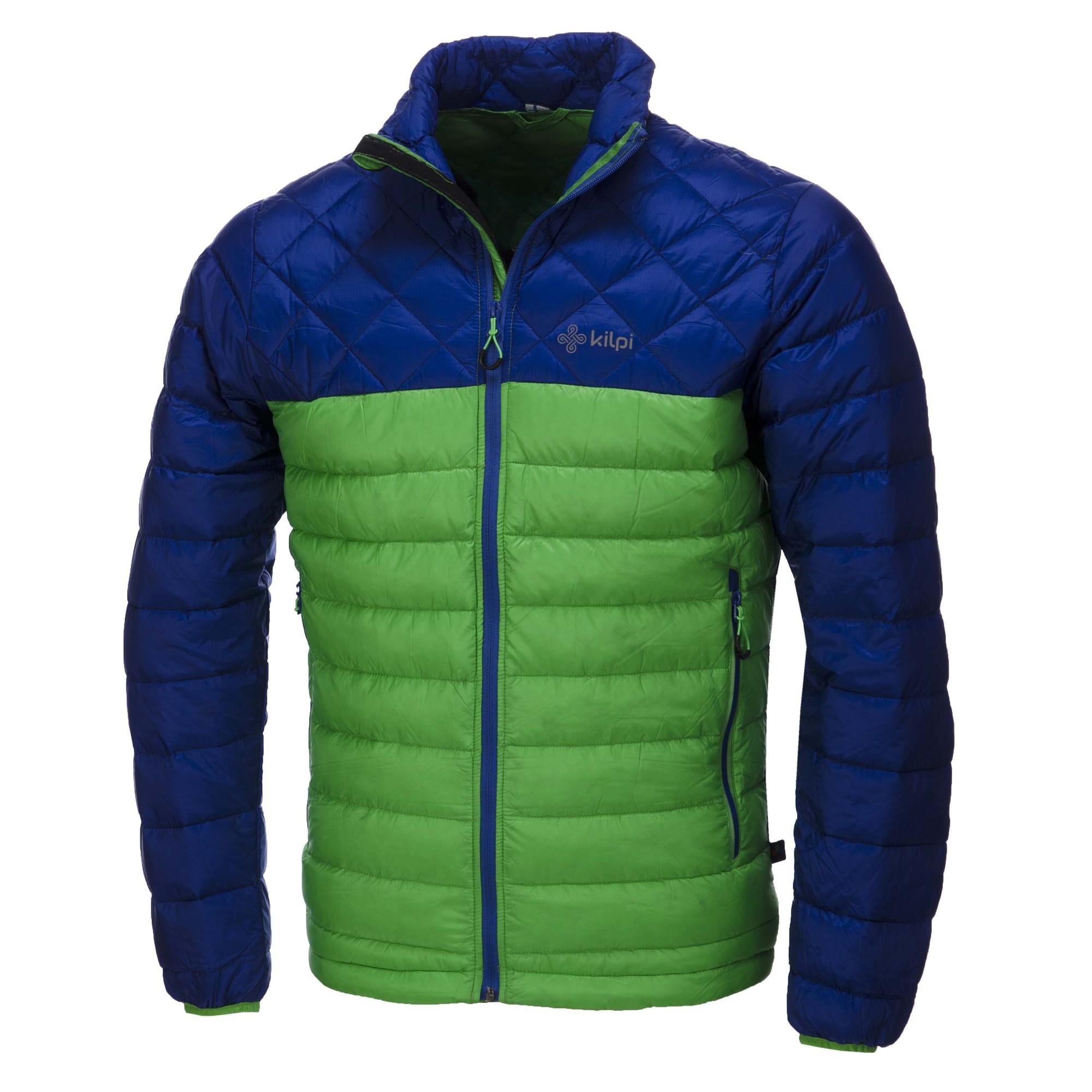 kilpi io kurtka narciarska męska niebiesko-zielona